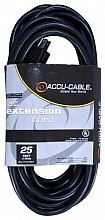 Accu Cable EC-123-25 Black Extension Cord (25ft)
