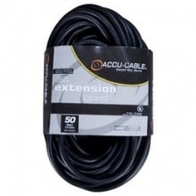 ACCU Cable EC-123-50 Black Extension Cord (50ft)