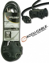 American Audio EC163-3FER25 Black Tri Extension Cord (25ft)