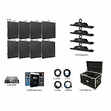 American DJ AV3 Video Wall 4x2 Complete Package