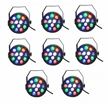 Eliminator Mini Par RGBW LED 8pc Pack
