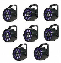 Eliminator Mini Par UVW LED 8pc Pack