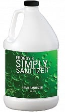 Froggys Fog Simply Sanitize Liquid - Hand Sanitizer (1 Gallon)