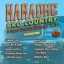 Karaoke Music Bro Country Vol. 1 (digital download)