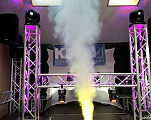 KPODJ Mobile DJ Truss Booth with Lights