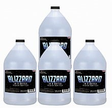 Master Fog Blizzard Snow Fluid, Long Lasting (4 Gallon Case)