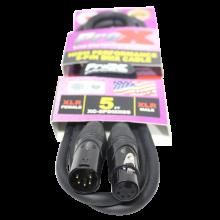 ProX XC-5PDMX05 (5 Ft. DMX XLR5-M to XLR5-F High Performance Data Cable)
