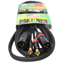 ProX XC-DRXM10 (10ft Dual RCA-M to Dual XLR3-M High Performance Cable)