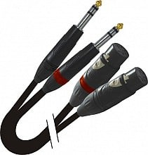 "ProX XC-DSXF05 (5ft Dual 1/4"" TRS-M to Dual XLR3-F High Performance Cable)"