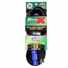 ProX XC-PWCE14-10  (10ft PowerCON Blue to Edison Cable)