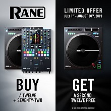 Rane Twelve and Seventy-Two Package Promo | Buy a Twelve and a Seventy Two and get a Second Twelve FREE